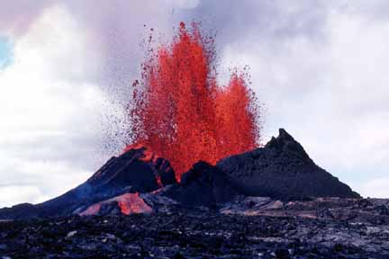 Pu`u `O`o in eruption