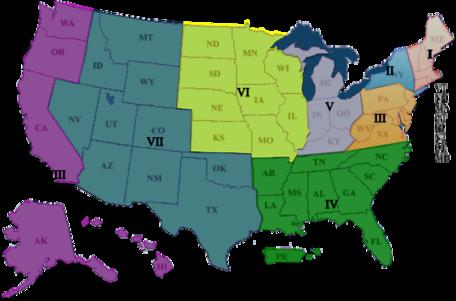 Map of NESTA Regions 2016
