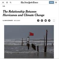 The Relationship Between Hurricanes and Climate Change NYT article