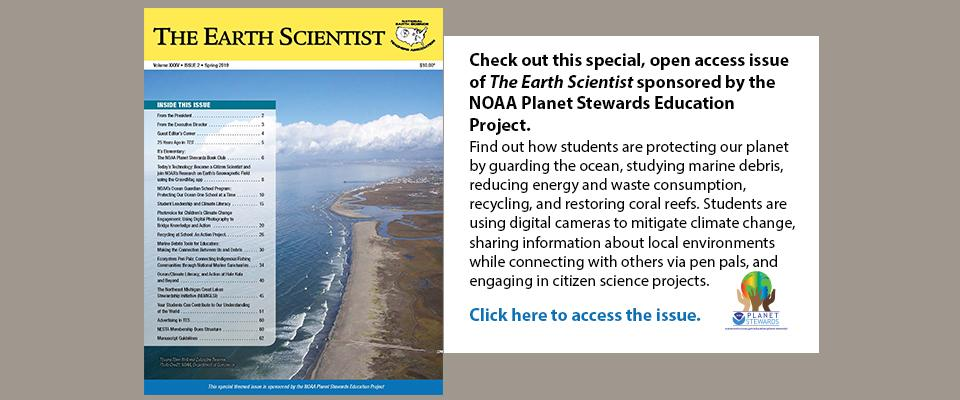 Spring 2019 open access issue of The Earth Scientist