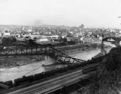 The LA river showing damage after 1930 flood
