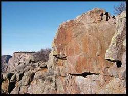 Quartz Monzonite outcrop - Black Canyon of the Gunnison National Park