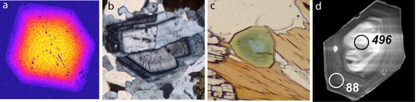 Images showing major and trace element zoning of common metamorphic minerals
