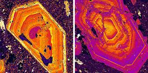 Element maps showing Ca and Na zonation in plagioclase.