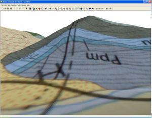 3-D Geology Map