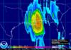 Rainfall from Hurricane Katrina.