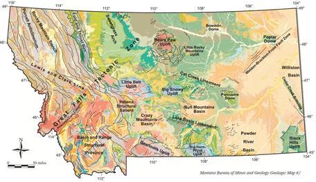 Geologic Map of Montana