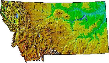 Topography of Montana
