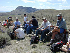 Geologists in the field.