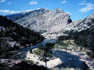 Sun River Canyon in the Sawtooth Range