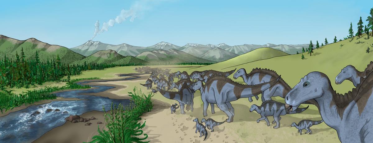 Maiasaura herd