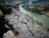 Basalt columns along the Snake River Gorge, Twin Falls, Idaho.