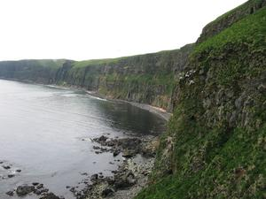 Basalt cliffs at Garden Cove, St. George Island, AK.