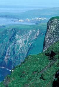St. George Island Village, Pribilof Islands, Alaska.