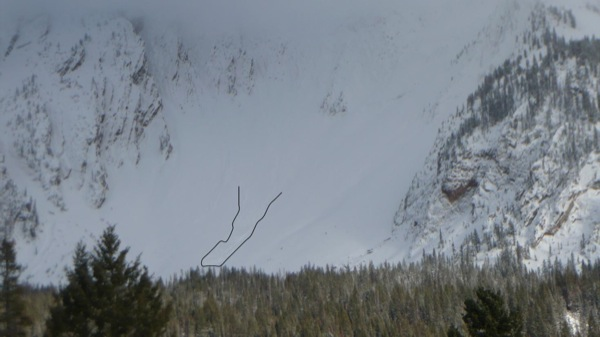 Avalanche in the Bridger Range
