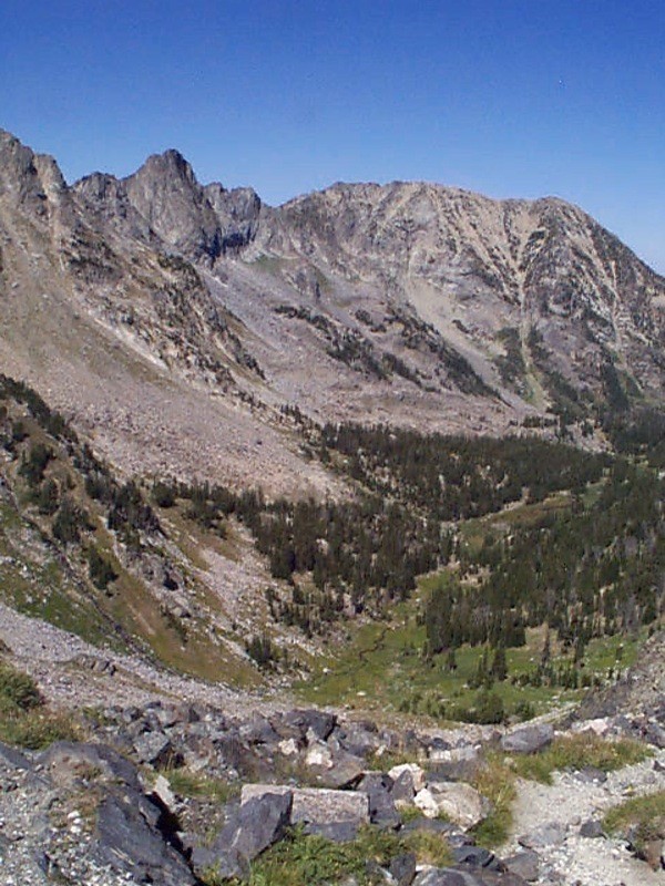 Bear Basin Looking North to Mirror Lake