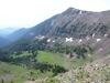 Hyalite Peak, trail to south