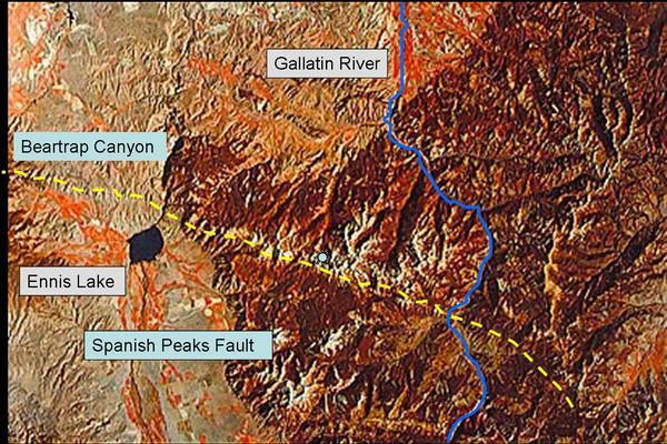 Landsat Image of Spanish Peaks