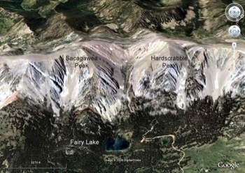 Oblique View of Bridger Range Looking West at Fairy Lake