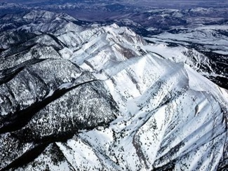 Profile of the Bridger Range from the Air