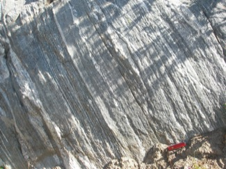 Tonalitic Gneiss with disharmonic folds, Bear Basin