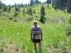 Trail running on the Devil\'s Backbone route.