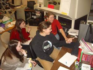 Students using XRD Instrument
