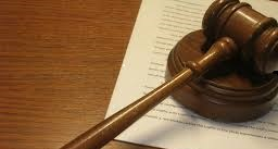 A gavel on a legal document