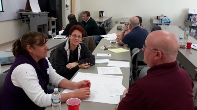 Group discussions at 2014 Raleigh workshop