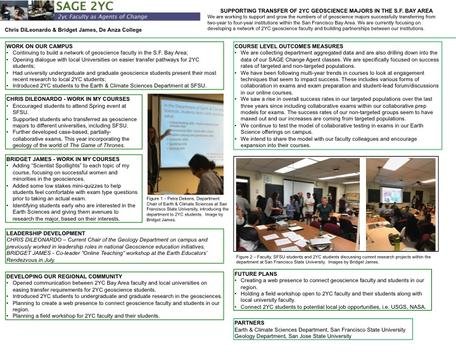 NoCal SAGE 2YC project poster, June 2017