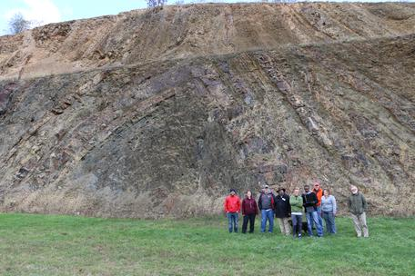 Geologists and anticline