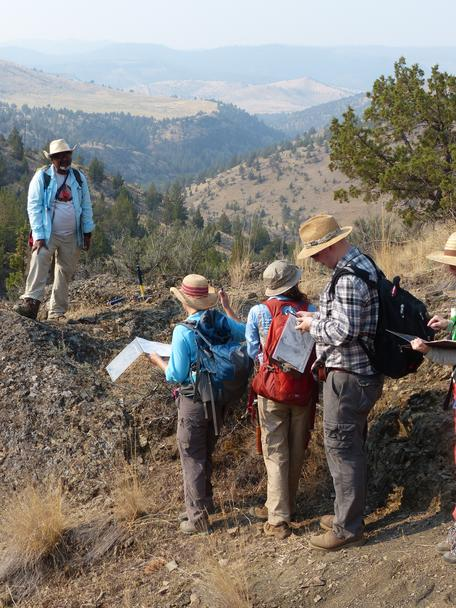 Geobridge students are introduced to field geology near the John Day Fossil Beds, OR