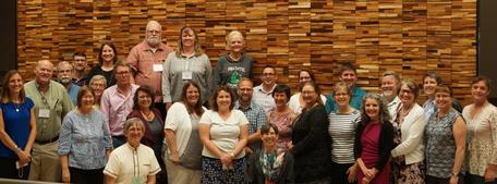 Change Agents and project team at the Cohort 1 Change Agents Workshop, June 2018