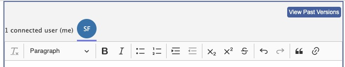 RichText Edit Bar
