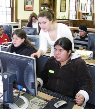 students using the mouse