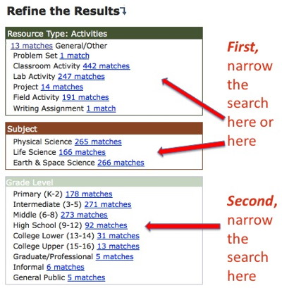 refine the results K8 screen shot