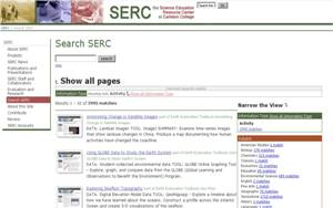 Search SERC screenshot