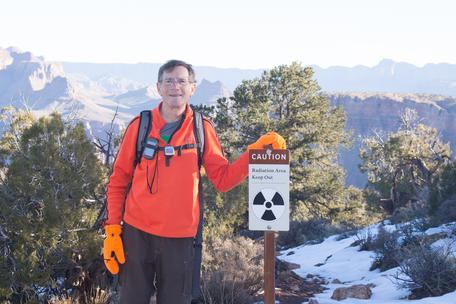 Timothy Heaton exploring hazards in the Grand Canyon