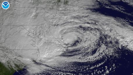 Sandy Prepares to Make Landfall