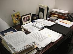 Desk w/Paper Load