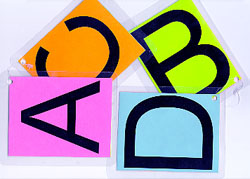 ABCD letters