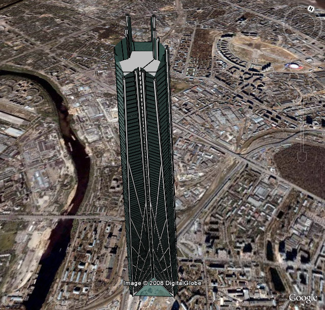 3D Model of Proposed Tower in Russia