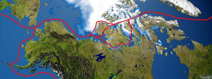 Map of Northwest Passage