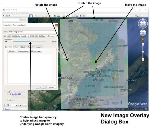 Google Earth Pro New image overlay - update