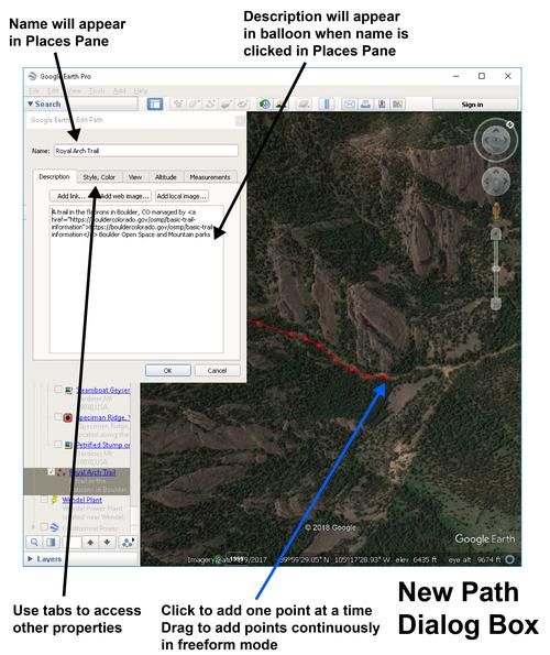 Google Earth Pro New Path - update