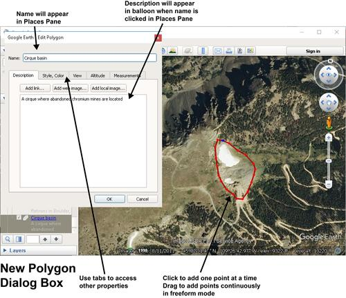 Google Earth Pro New Polygon - update