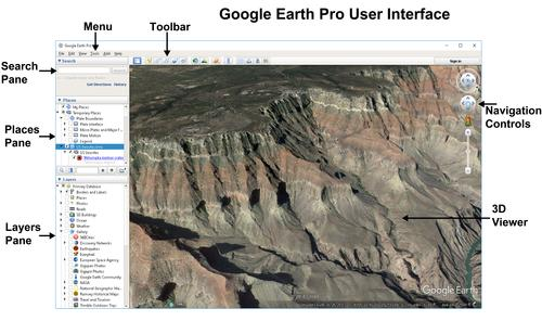 Google Earth Pro User Interface - update