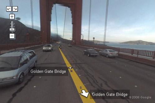 google maps golde gate bridge in street view