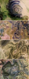 composite of Earth as Art images