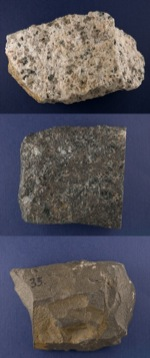photo of basalt, granite, and gabbro